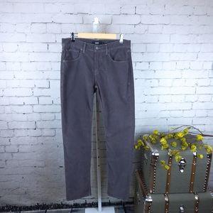 Hudson The Blake Mens Bias Corduroy Pants Gray 32